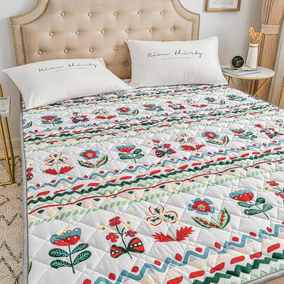 2020新品 全棉可机洗床垫 榻榻米防滑床褥子四季床护垫 薄垫被 0.9*2m 淡雅芬芳