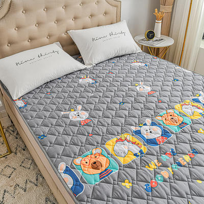 2020新品 全棉可机洗床垫 榻榻米防滑床褥子四季床护垫 薄垫被 0.9*2m 萌宝乐园