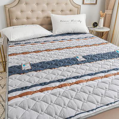 2020新品 全棉可机洗床垫 榻榻米防滑床褥子四季床护垫 薄垫被 0.9*2m 摩根