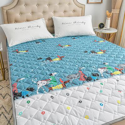 2020新品 全棉可机洗床垫 榻榻米防滑床褥子四季床护垫 薄垫被 0.9*2m 圣诞汪