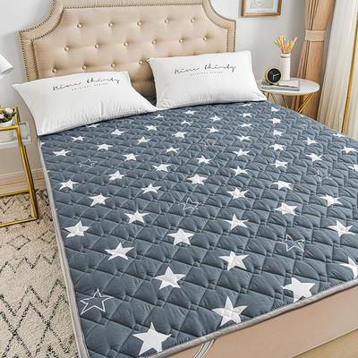 2020新品 全棉可机洗床垫 榻榻米防滑床褥子四季床护垫 薄垫被 0.9*2m 星空漫步