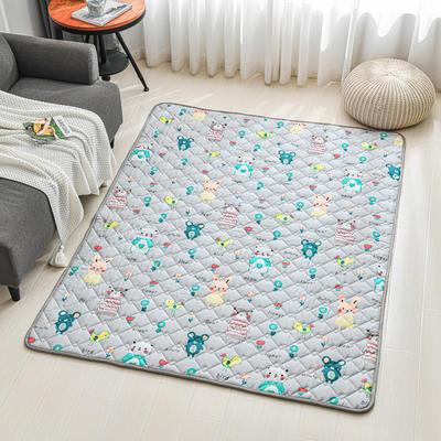 全棉防滑爬爬垫 宝宝爬行垫 加厚地垫客厅地毯可机洗 90*200cm 布洛尼