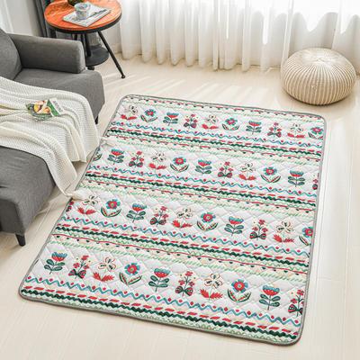 全棉防滑爬爬垫 宝宝爬行垫 加厚地垫客厅地毯可机洗 90*200cm 淡雅芬芳