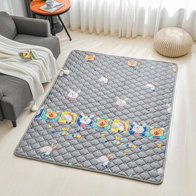 全棉防滑爬爬垫 宝宝爬行垫 加厚地垫客厅地毯可机洗 90*200cm 萌宝乐园