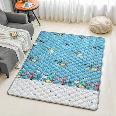 全棉防滑爬爬垫 宝宝爬行垫 加厚地垫客厅地毯可机洗 90*200cm 圣诞汪
