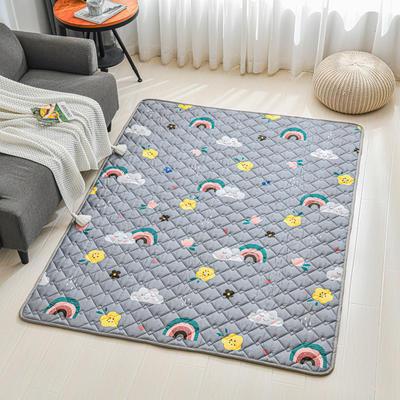 全棉防滑爬爬垫 宝宝爬行垫 加厚地垫客厅地毯可机洗 90*200cm 雨后彩虹