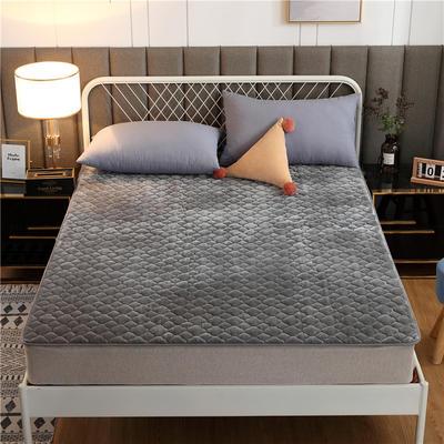 2020新款梅花法莱绒床褥床垫 1.0*2.0m 灰色