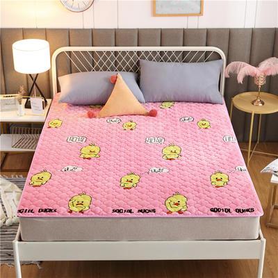 2020新款梅花法莱绒床褥床垫 1.0*2.0m 小黄鸭