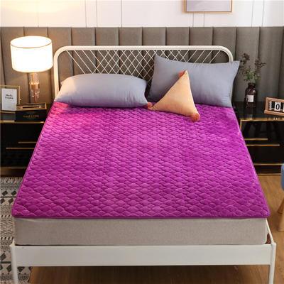 2020新款梅花法莱绒床褥床垫 1.0*2.0m 紫色