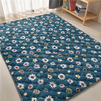 2020新款毛巾绒防滑保暖地垫床褥-毛巾绒爬行垫爬爬垫 1.2*2.0m 向日葵花