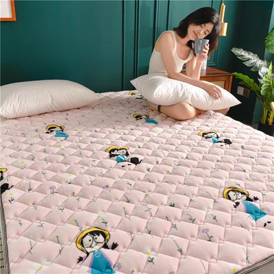 2020新款毛巾绒防滑保暖垫床褥-毛巾绒床垫 1.2*2.0m 花园女孩