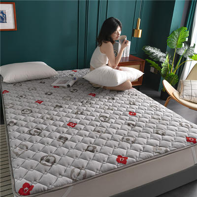 2020新款毛巾绒防滑保暖垫床褥-毛巾绒床垫 1.2*2.0m 锦素