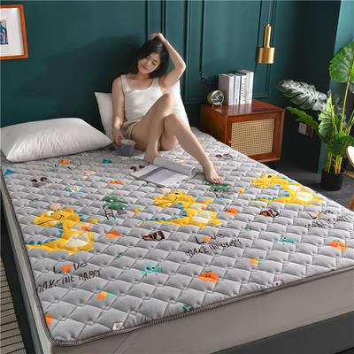 2020新款毛巾绒防滑保暖垫床褥-毛巾绒床垫 1.2*2.0m 恐龙