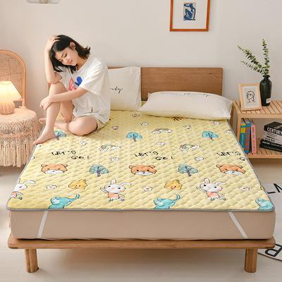 2020新款梅花法莱绒床褥床垫 1.0*2.0m 动物乐园