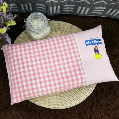 新品-乳胶儿童枕 粉小格