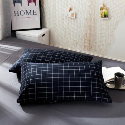 新品-水洗棉AB版单枕套 48cmX74cm 暖冬