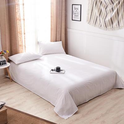 新品-全棉水洗棉纯色单床单 120*230cm 白色