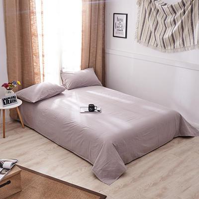 新品-全棉水洗棉纯色单床单 120*230cm 浅灰