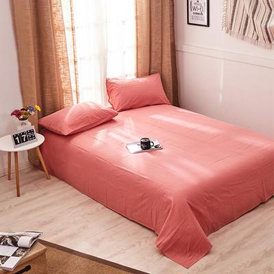 新品-全棉水洗棉纯色单床单 120*230cm 紫红