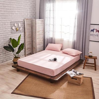 新品-全棉水洗棉纯色单床笠 120*200cm 浅粉