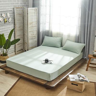 新品-全棉水洗棉纯色单床笠 120*200cm 绿色