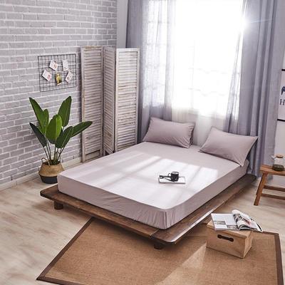新品-全棉水洗棉纯色单床笠 120*200cm 浅灰