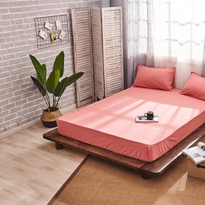 新品-全棉水洗棉纯色单床笠 120*200cm 紫红