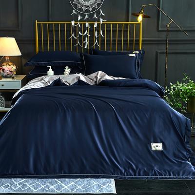 新品 A版水洗真丝 B版全棉水洗棉四件套 1.5m(5英尺)床 宝石蓝