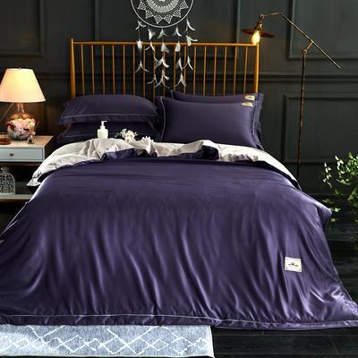新品 A版水洗真丝 B版全棉水洗棉四件套 1.5m(5英尺)床 冷艳紫