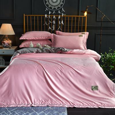 新品 A版水洗真丝 B版全棉水洗棉四件套 1.5m(5英尺)床 玉粉色