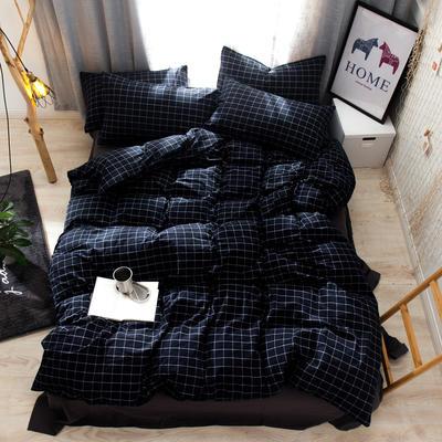 2019新款全棉水洗棉AB版四件套 1.2m床單款三件套 暖冬