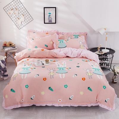 2020新款网红韩版加厚磨毛床单款床裙款四件套 1.2m床单款三件套 兔小姐