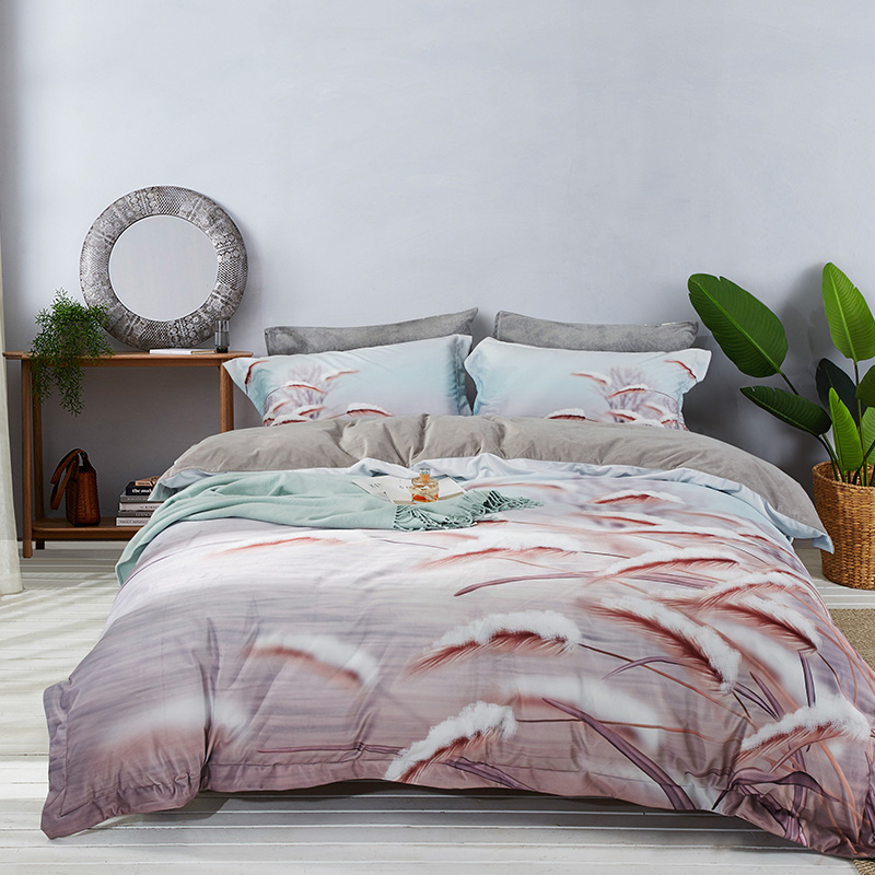 特丽绒水晶绒法莱绒宝宝绒数码绒保暖套件 2.0m(6.6英尺)床 雅风-咖
