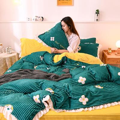 2019新款韩版魔法绒四件套 1.2m床单款三件套 芝麻街