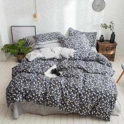 2020新款13372纯棉法式复古小碎花 1.2m(4英尺)床单款三件套 浮华