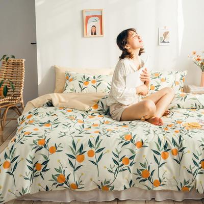 2020新款13372純棉法式復古小碎花 1.2m(4英尺)床單款三件套 芒種