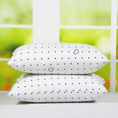 特价学生 枕羽丝枕 枕头 枕芯 网销赠品 爱心圆点(42*70cm/只)
