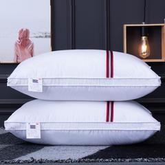 兴丝露枕芯磨毛彩条枕 立体枕 48x74cm中枕 磨毛彩条立体枕