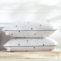 兴丝露枕芯磨毛舒适枕高枕48x74cm 高枕唇印
