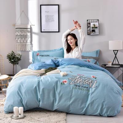 2019铂金棉四件套 1.8m(6英尺)床 奢享生活-兰绿