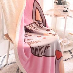 2018新款羊羔绒童毯 100*140cm 粉猫