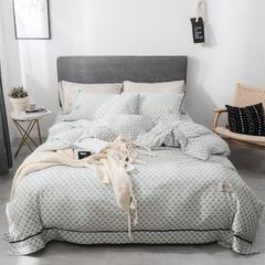 2019新款-小清新水洗棉四件套 1.5m(5英尺)床 语叶-绿