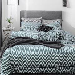 2019新款-小清新水洗棉四件套 1.5m(5英尺)床 流光-绿