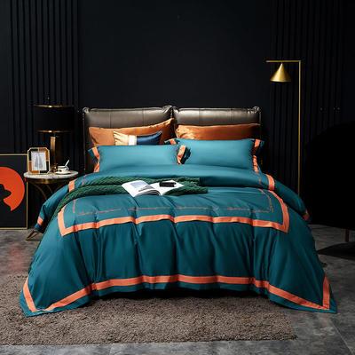 2020新款新款100支奥棉长绒棉四件套—诺丽系列 1.5m床单款四件套 翡翠绿