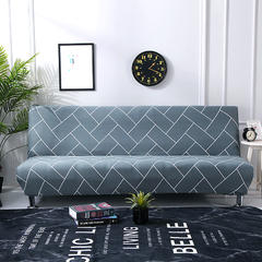 万能全包弹力通用沙发床专用套 浅灰线(160*190cm)