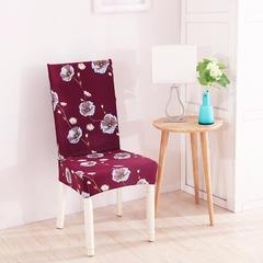 新款万能弹力紧包家用连体酒店餐椅套 浓情蜜意