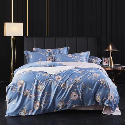 2020新款天丝绸四件套 1.8m床单款四件套 欧莲兰