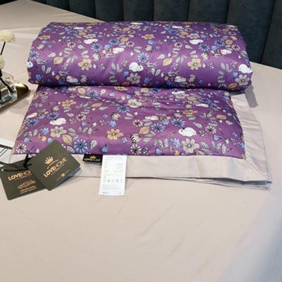 2020新款天丝夏被 200*230cm单夏被 繁华紫