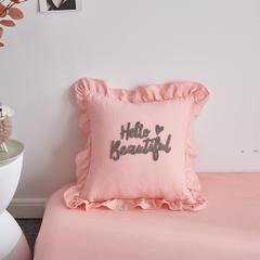 2018新款-抱枕(hello beautiful) 43x43cm hello粉色抱枕