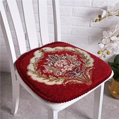 2018欧式餐椅垫 坐垫 可拆洗凳子垫椅垫 47*48cm 一缕阳光-酒红